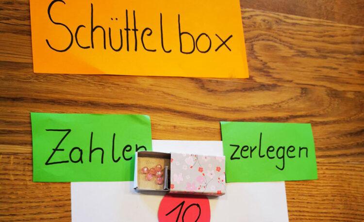Montessori-Material: Schüttelbox zum Zahlenzerlegen selber basteln