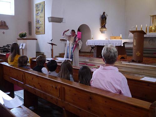 Schulanfangsgottesdienst in Oberried im Schuljahr 20/21